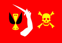 The warning flag of Christopher Moody. It basically said to surrender or die!